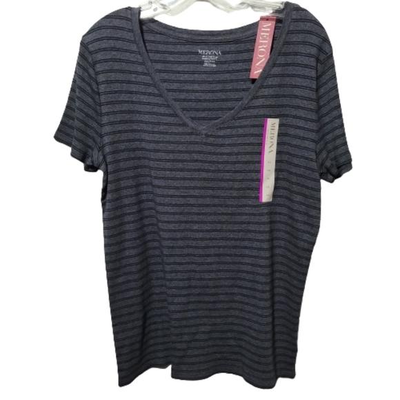 Merona Ultimate Striped V-Neck Shortsleeve Shirt